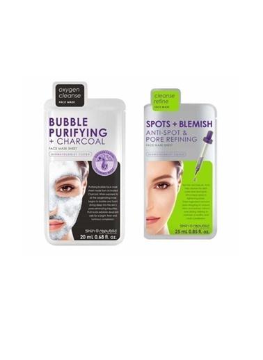Skin Republic Skin Republic Bubble Maske 20 Ml+ Sıkılaştırıcı Maske 25 Ml Renksiz